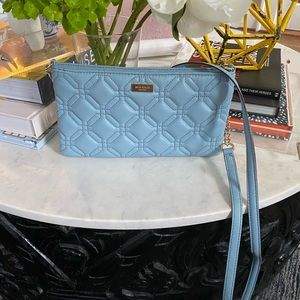 Kate Spade Quilted Crossbody, Light Blue